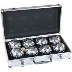 KULE DO GRY 8 SZT-BOULE, PETANQUE - w walizce aluminiowej
