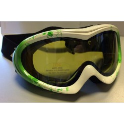 GOGLE NARCIARSKIE ZOE JUNIOR GREEN/WHITE DOUBLE LENS ITALY