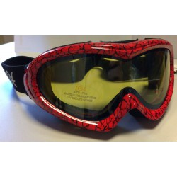 GOGLE NARCIARSKIE ZOE JUNIOR RED/BLACK DOUBLE LENS ITALY