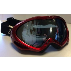 GOGLE NARCIARSKIE ZOE JUNIOR RED DOUBLE LENS ITALY