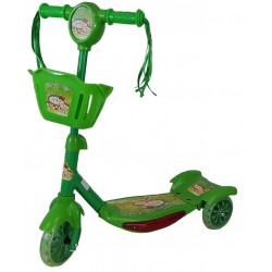 Hulajnoga 3-kołowa LED Zielona HDL-703