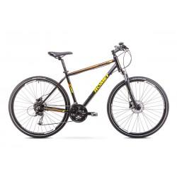 Rower ROMET  ORKAN 3 M czarno-pomarańczowy 19 M