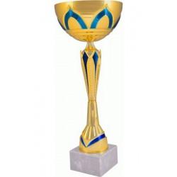 Puchar metalowy złoto-niebieski 7137B
