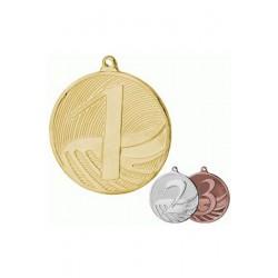 Medal stalowy zloty pierwsze miejsce MD1291/G