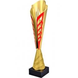 Puchar plastikowy złoto-czerwony 8248A