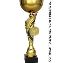 Puchar metalowy złoto-niebieski T-M 8177C