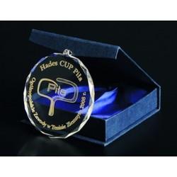 Medal szklany grawerowany z etui