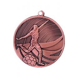 Medal stalowy brązowy piłka nożna