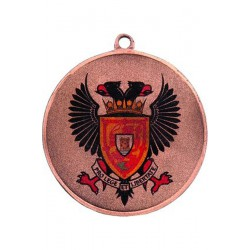 Medal stalowy brązowy piłka nożna z nadrukiem luxor jet
