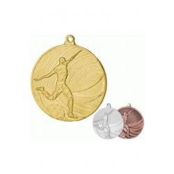 Medal stalowy złoty piłka nożna