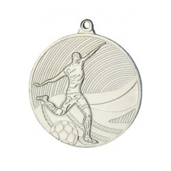 Medal stalowy srebrny piłka nożna