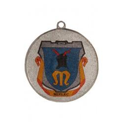 Medal stalowy srebrny piłka nożna z nadrukiem luxor jet