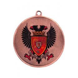 Medal zamak brązowy trzecie miejsce z nadrukiem kolorowym LuxorJet