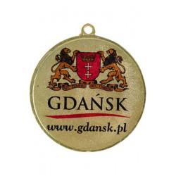 Medal zamak złoty pierwsze miejsce z nadrukiem kolorowym LuxorJet