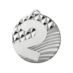 Medal zamak srebrny drugie miejsce