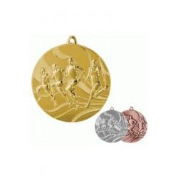 Medal złoty- biegi - medal stalowy