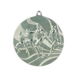 Medal srebrny- biegi - medal stalowy