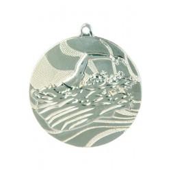 Medal srebrny- pływanie - medal stalowy