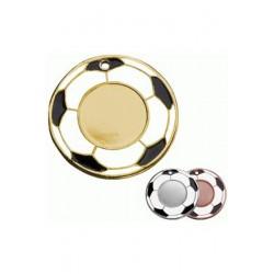Medal złoty - piłka nożna - medal stalowy