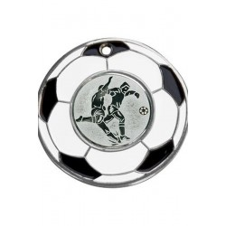 Medal srebrny - piłka nożna - medal stalowy
