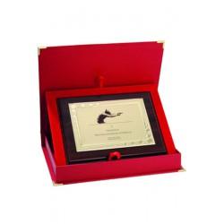 Dyplom z tworzywa sztucznego z metalową blaszką grawerowany + etui