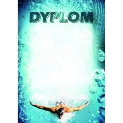 Dyplom papierowy - pływanie (25 szt.) DYP 83