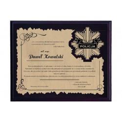 Dyplom z tworzywa sztucznego z laminatem grawerowany