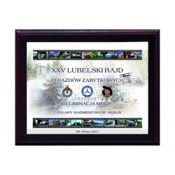 Dyplom z tworzywa sztucznego-z laminatem colour touch