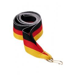 Wstążka 11 mm - czarno-czerwono-żółta