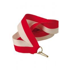 Wstążka 11 mm - biało-czerwona