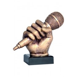 Figurka odlewana - mikrofon  RFST2074-14/BR