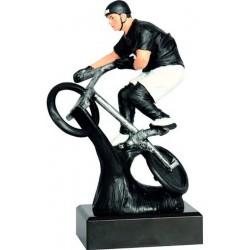 Figurka odlewana - rowerzysta - BMX  RFST2047