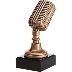 Figurka odlewana - mikrofon  RFST2079/BR