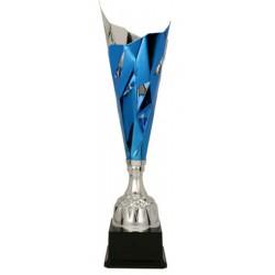 Puchar metalowy srebrno-niebieski 3138A