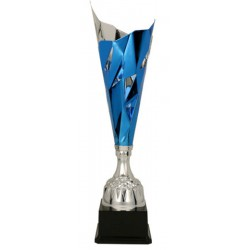 Puchar metalowy srebrno-niebieski 3138B