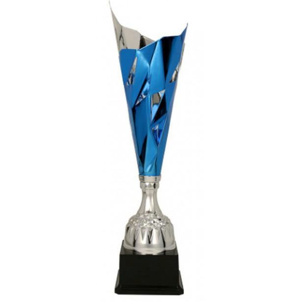 Puchar metalowy srebrno-niebieski 3138C