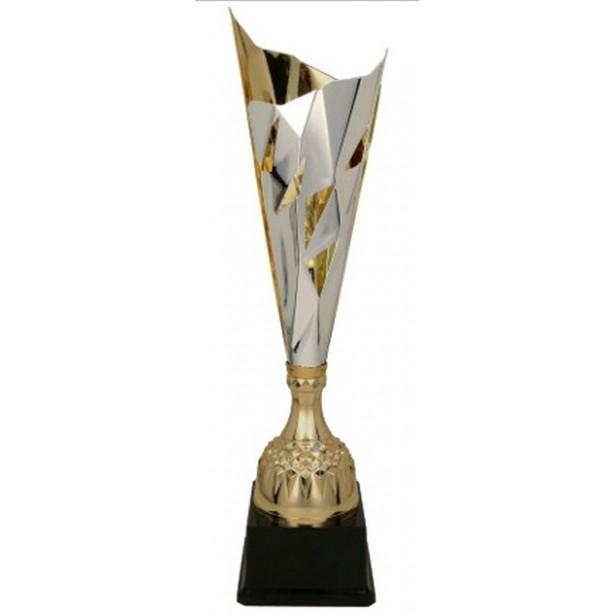Puchar metalowy srebrno-złoty 3137B