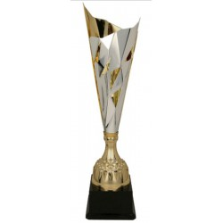 Puchar metalowy srebrno-złoty 3137C