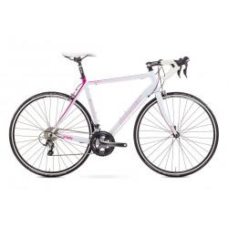 Rower ROMET  FEN biało-różowy 56