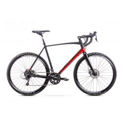 Rower ROMET  ASPRE czarno-czerwony 56