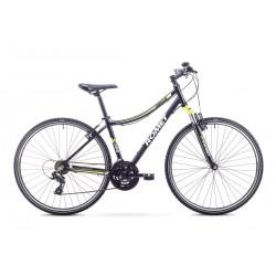 Rower ROMET  ORKAN D czarno-seledynowy 15  S