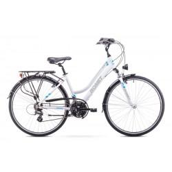 Rower ROMET  GAZELA 1  biało-niebieski 19 M