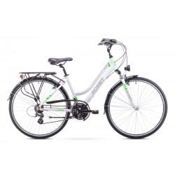 Rower ROMET  GAZELA 1  biało-seledynowy 17 S