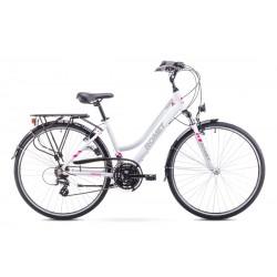 Rower ROMET   GAZELA  biało-różowy 17 S