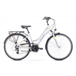 Rower ROMET   GAZELA  biało-żółty 17 S