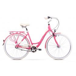 Rower ROMET  ART DECO 3  różowy 17 M
