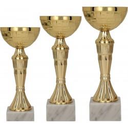 Zestaw pucharów metalowych - złotych 9109ABC
