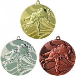 Medal Srebrny Zapasy/ Judo D-50 Mm