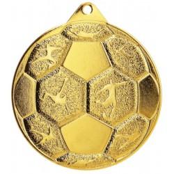 Medal Stalowy Piłka Nozna Fi 50 Mmc8850/G - Złoty