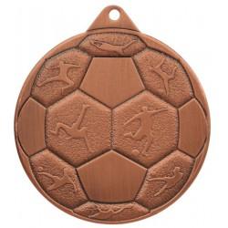 Medal Stalowy Piłka Nozna Fi 50 Mmc8850/B - Brązowy